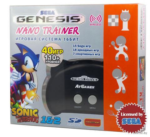 SEGA Genesis Nano Trainer + SD карта (чёрный)