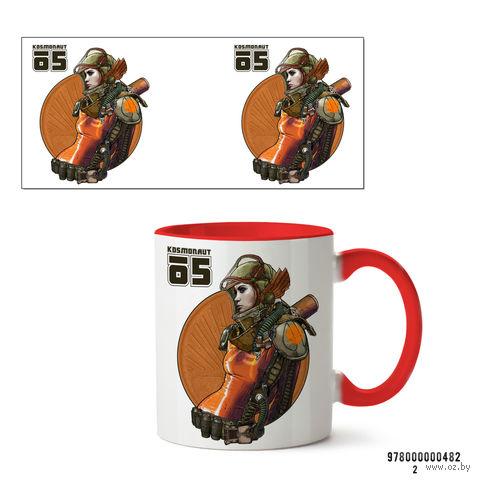"""Кружка """"Kosmonaut"""" (красная) — фото, картинка"""