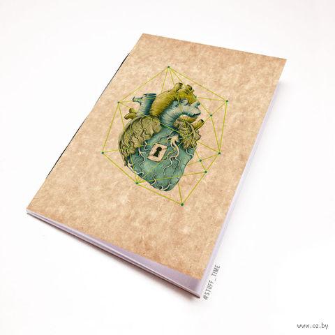 """Блокнот крафт """"Сердце"""" (А5; арт. 719) — фото, картинка"""