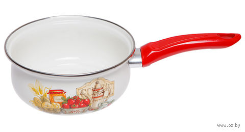"""Ковш стальной эмалированный """"Любимая кухня"""" (1,3 л) — фото, картинка"""