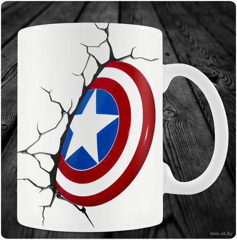 "Кружка ""Капитан Америка"" (арт. 1) — фото, картинка"