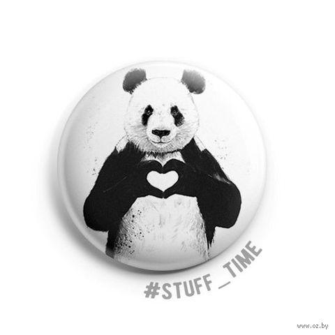 "Значок маленький ""Панда"" (арт. 512) — фото, картинка"