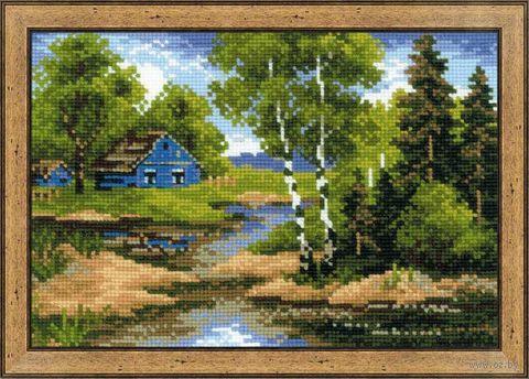 """Вышивка крестом """"Летний домик"""" (210х150 мм) — фото, картинка"""