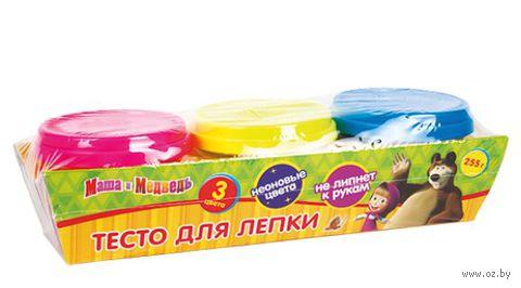 """Тесто для лепки """"Маша и Медведь. Неоновые цвета"""" (3 цвета)"""