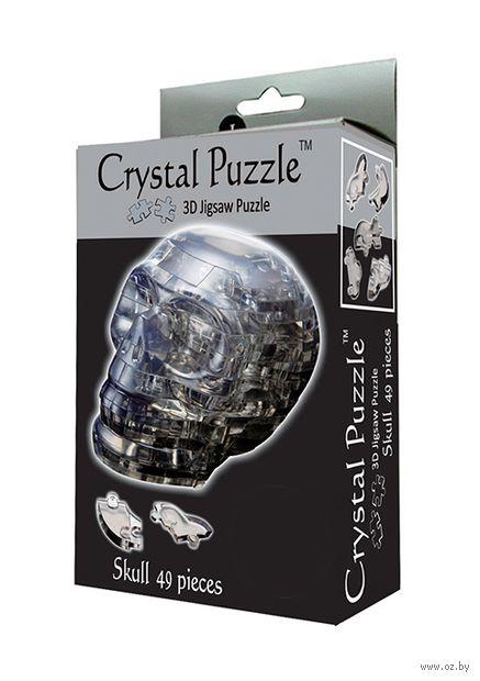 """Пазл-головоломка """"Crystal Puzzle. Череп черный"""" (49 элементов)"""