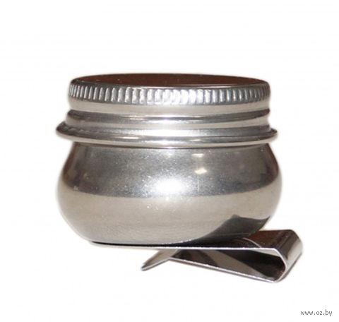 Масленка с крышкой (металлическая)