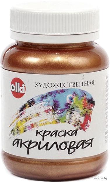 "Краска акриловая ""металл"" (бронза, 100 мл)"