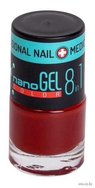 """Лак для ногтей """"Nano Gel Color"""" (тон: 14, карминно-красный) — фото, картинка"""