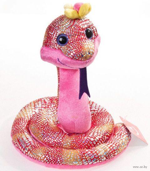 """Мягкая игрушка """"Весёлая змея с цветком"""" (40 см) — фото, картинка"""