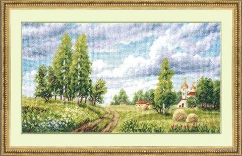 "Вышивка крестом ""Поле"" (200х352 мм) — фото, картинка"