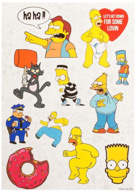 """Набор виниловых наклеек №12 """"Симпсоны"""""""