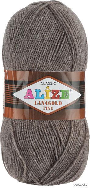 "Пряжа ""ALIZE. Lana Gold Fine №240"" (100 г; 390 м; коричневый) — фото, картинка"
