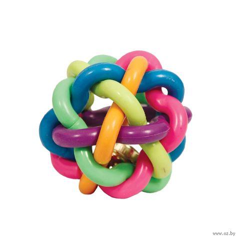 """Игрушка для собак """"Мяч-лабиринт с колокольчиком"""" (9,5 см) — фото, картинка"""