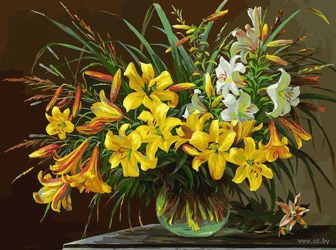 """Картина по номерам """"Золотая лилия"""" (300х400 мм) — фото, картинка"""