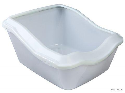 """Туалет для кошек """"Cleany"""" (45х29х54 см; белый) — фото, картинка"""
