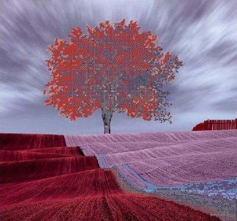 """Вышивка бисером """"Красное дерево"""" (360х340 мм) — фото, картинка"""