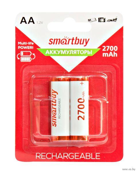 Аккумулятор NiMh Smartbuy AA/2BL 2700 mAh (24/240) (2 шт.; SBBR-2A02BL2700) — фото, картинка