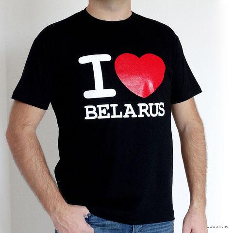 "Футболка мужская Vitaem ""I LOVE BELARUS"" (черная) (XL)"