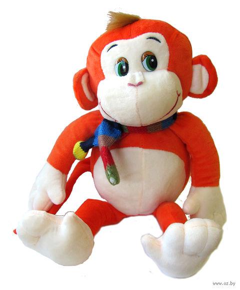 """Мягкая игрушка """"Обезьянка с шарфиком"""" (38 см) — фото, картинка"""