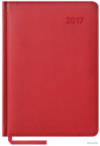 """Ежедневник датированный """"Vivella"""", 2017 (А5; 176 листов; красный)"""