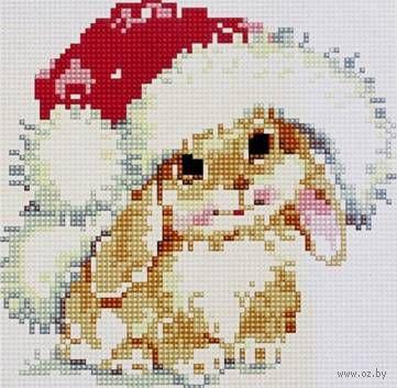 """Алмазная вышивка-мозаика """"Новогодний заяц"""""""