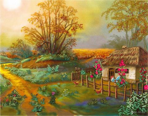 """Набор для вышивания """"Утро в деревне"""" (240х180 мм) — фото, картинка"""