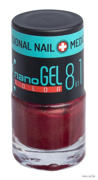 """Лак для ногтей """"Nano Gel Color"""" (тон: 16, бордовый перламутр) — фото, картинка"""