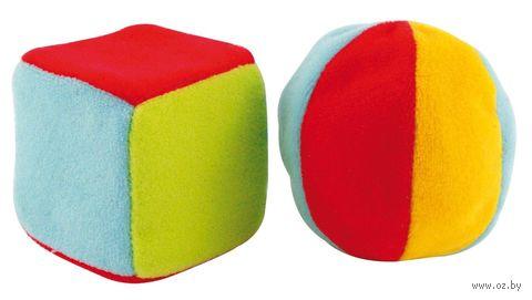 """Мягкие погремушки """"Маленькие мячик и кубик"""" — фото, картинка"""