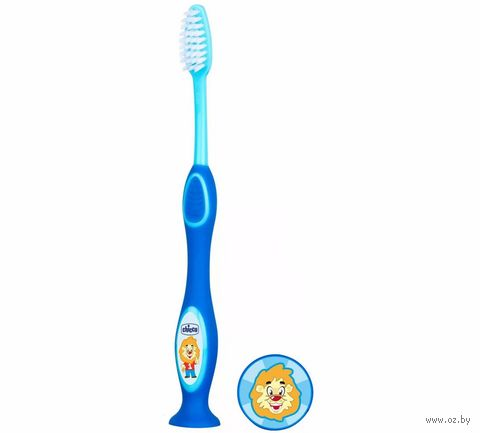 """Детская зубная щетка """"Chicco. Голубая"""" (арт. 0000907920000) — фото, картинка"""