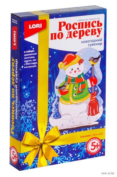"Набор для росписи по дереву ""Снеговик"" — фото, картинка"