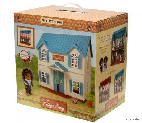 """Дом для кукол """"Домик с голубой крышей"""" — фото, картинка"""