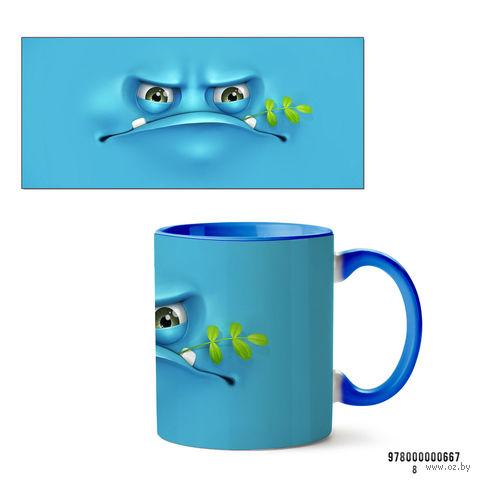 """Кружка """"Face"""" (667, голубая)"""
