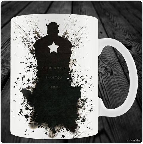 "Кружка ""Капитан Америка"" (арт. 8) — фото, картинка"