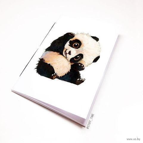 """Блокнот белый """"Панда"""" А6 (509)"""