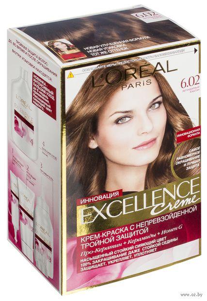 """Крем-краска для волос """"Excellence"""" (тон: 6.02, легендарный каштан) — фото, картинка"""