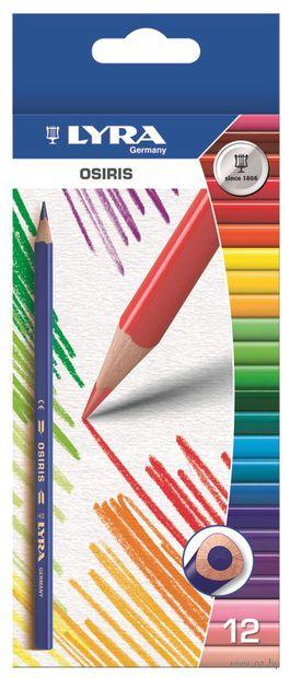 """Цветные карандаши """"OSIRIS"""" (12 цветов)"""