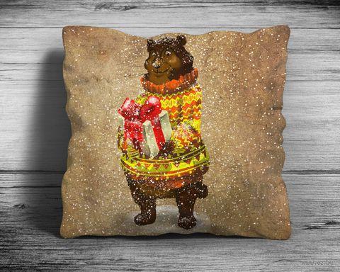 "Подушка ""Медведь"" (арт. 4; 28x28 см) — фото, картинка"