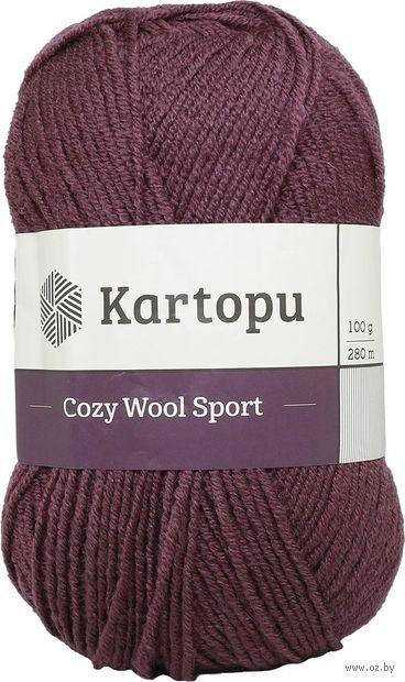 "Пряжа ""KARTOPU. Cozy Wool Sport №K1707"" (100 г; 280 м; бордовый) — фото, картинка"
