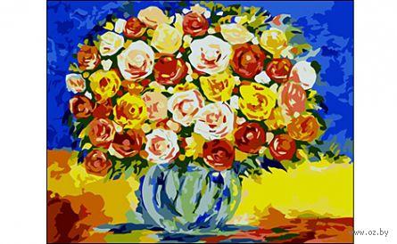 "Картина по номерам ""Яркий букет"" (400x500 мм) — фото, картинка"