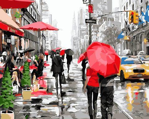 "Картина по номерам ""Дождь в Нью-Йорке"" (400х500 мм) — фото, картинка"