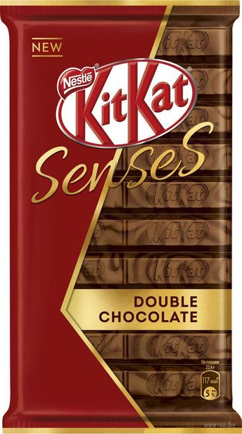 "Батончик шоколадный ""KitKat. Senses. Double Chocolate"" (112 г) — фото, картинка"