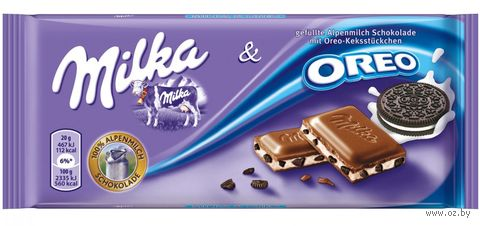 "Шоколад молочный ""Milka. Oreo Cookies"" (100 г) — фото, картинка"
