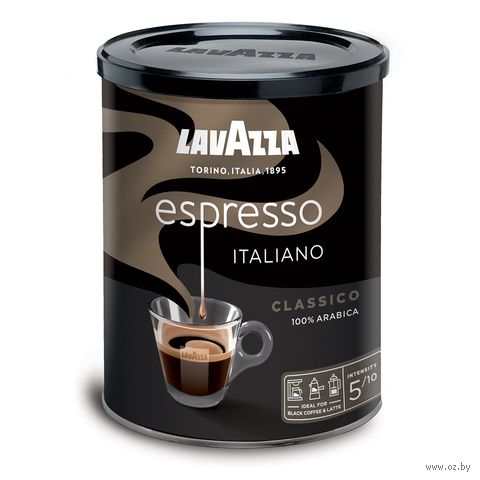 "Кофе молотый ""Lavazza. Espresso"" (250 г; в банке) — фото, картинка"