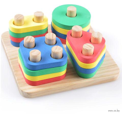 """Деревянная игрушка """"Логический квадрат"""""""