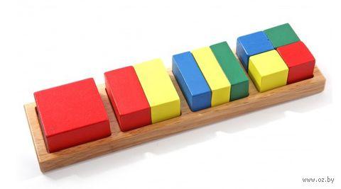 """Деревянная игрушка """"Дроби 2"""" (квадрат)"""