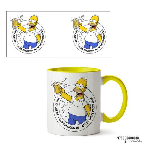 """Кружка """"Симпсоны"""" (желтая; арт. 018) — фото, картинка"""