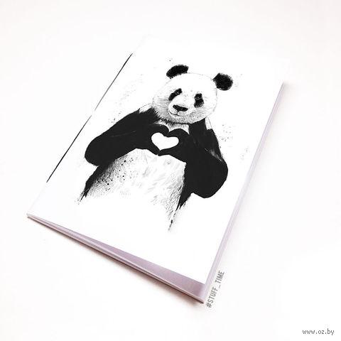 """Блокнот белый """"Панда"""" А6 (512)"""
