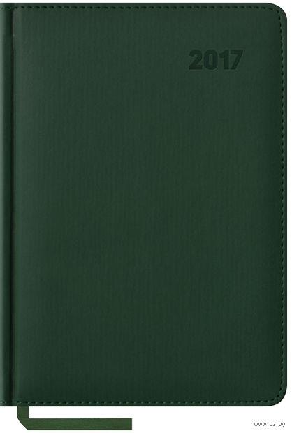 """Ежедневник датированный """"Vivella"""", 2017 (А5; 176 листов; зеленый)"""