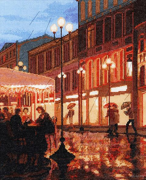 """Вышивка крестом """"Дождь в городе"""" (320x390 мм) — фото, картинка"""