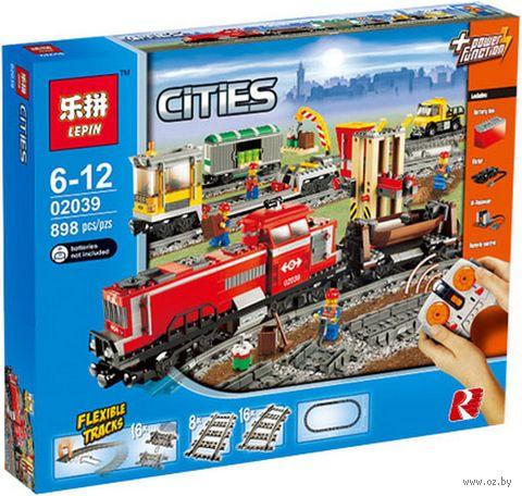 """Конструктор Cities """"Красный товарный поезд"""" — фото, картинка"""